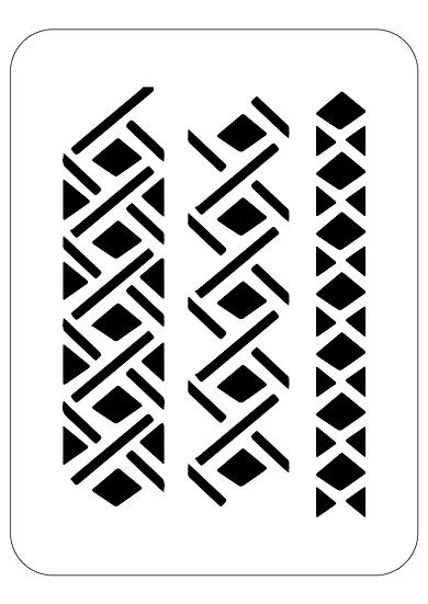 Sablon decorativ Minimal Lines A4 (1294)