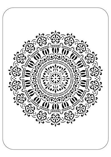Sablon 3D Spring Mandala 70x70 cm  (6037)