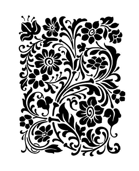 Sablon 3D Intricate Flower 50x70 cm  (6041)