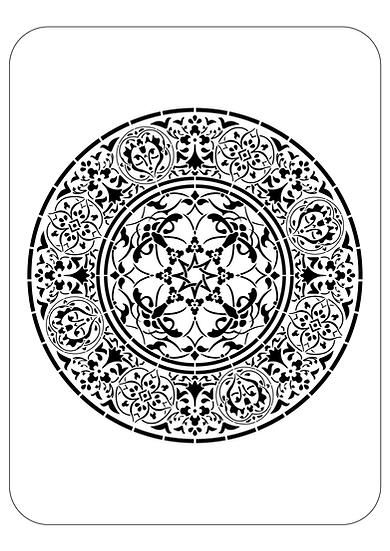 Sablon 3D Mandala Plex  75x75cm (6139)