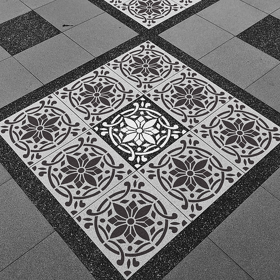 Sablon decorativ Shabby Tile  30x30 cm  (4031)