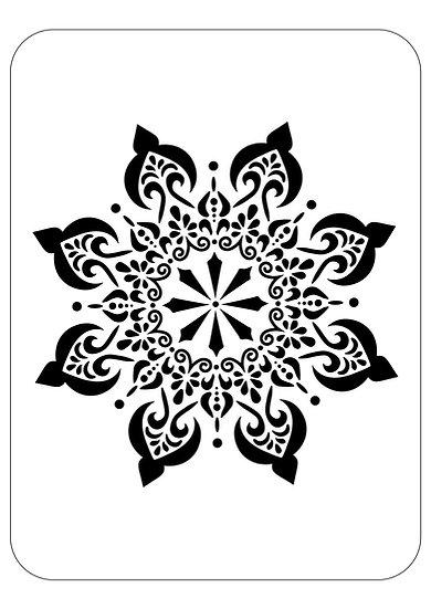 Sablon 3D Mandala Soft  30 x 30 cm  (6029)