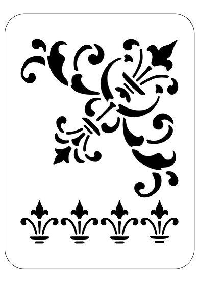 Sablon 3D Baroque Line 30x30 cm  (6047)