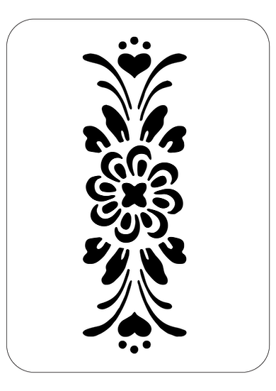 Sablon decorativ Flower Heart A4 (1223)