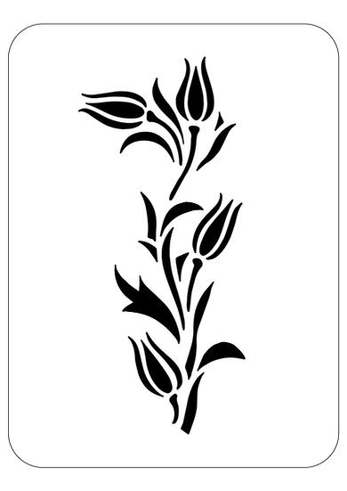 Sablon decorativ A4 Tall Tulip (1244)