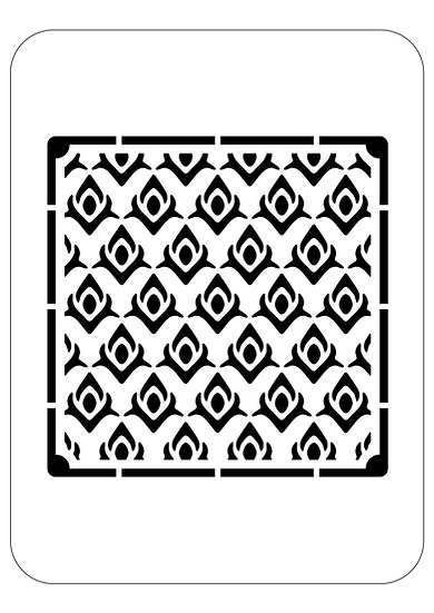 Sablon 3D Peacock Pattern 50x50 cm (6083)