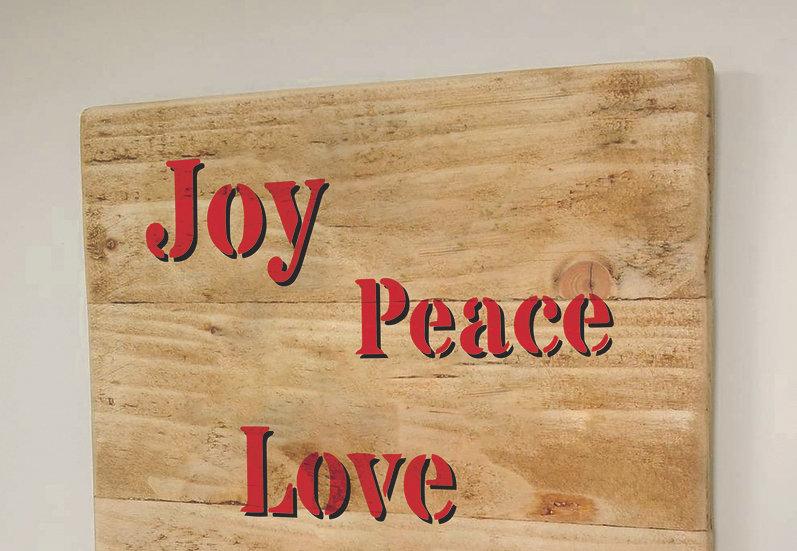 XS Joy Peace Love 10x21cm (2010)