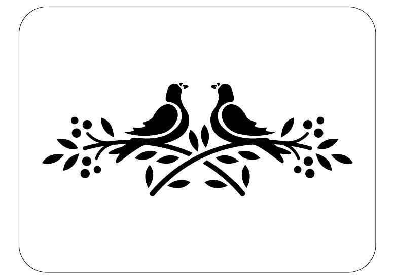 Sablon Branch Doves A4 (1249)