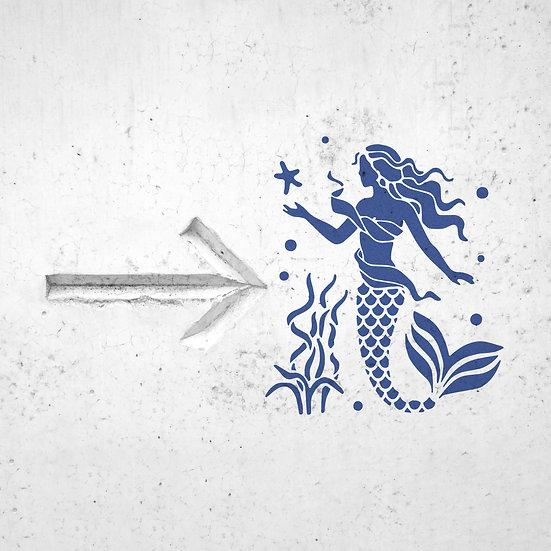 Sablon decorativ Ariel  A4 (1183)