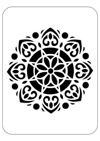 Sablon 3D Mandala Mimi 50x50cm  (6011)