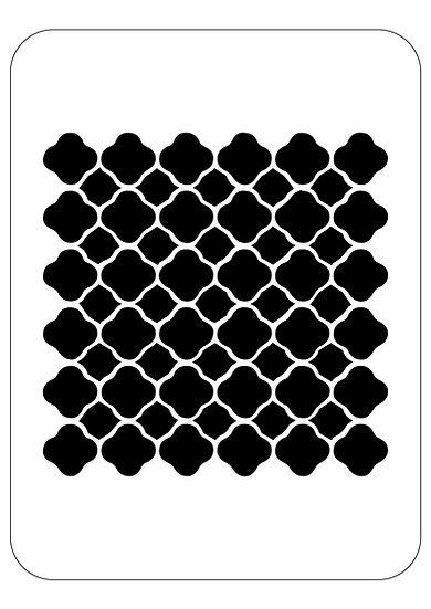 Sablon 3D Bow Pattern 30x30 cm (6099)