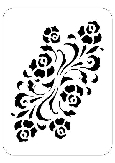 Sablon decorativ A4 Beach Roses  (1250)