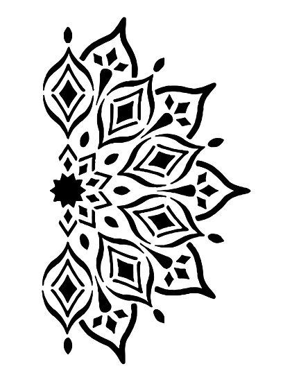 Sablon pereti Fatima Mandala  A3 (4022)