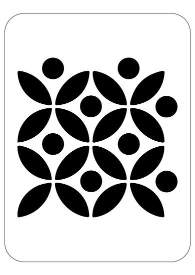 Sablon decorativ A4 MYA  (1207)