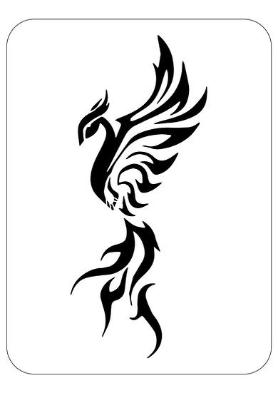 Sablon decorativ A4 Phoenix  (1272)