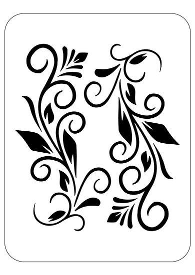 Sablon  A4 Simetric Lines (1173)