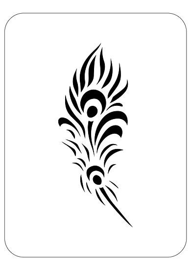 Sablon decorativ Feather A4 (1278)