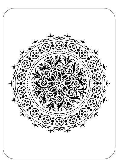 Sablon 3D Baroque Mandala  70x70 cm (6054)
