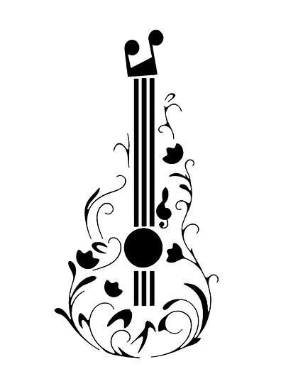 Sablon 3D Flower Guitar 40x60cm  (6114)