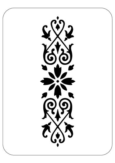 Sablon decorativ Flower Flower Strip A4 (1222)