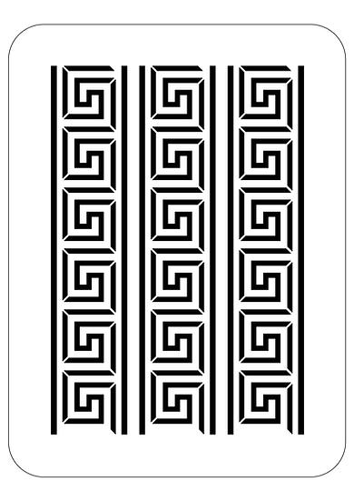 Sablon 3D Greek Key 40x60cm  (6075)