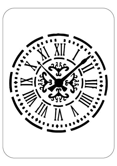 Sablon 3D  Clock  50x50 cm  (6021)