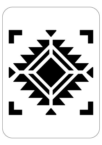 Sablon 3D Amerindian Tile 30x30 cm  (6070)