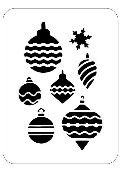 Sablon  Christmas dec A4  (1275)