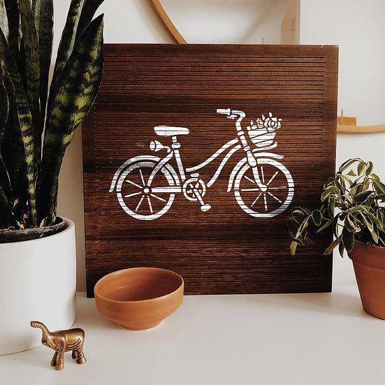 Sablon decorativ Bicicleta A4 (1202)