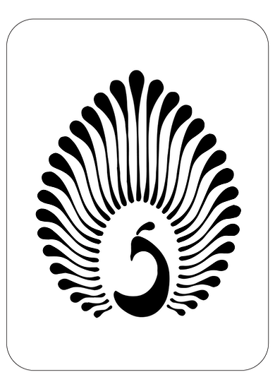 Sablon decorativ A4 Front Peacock (1217)