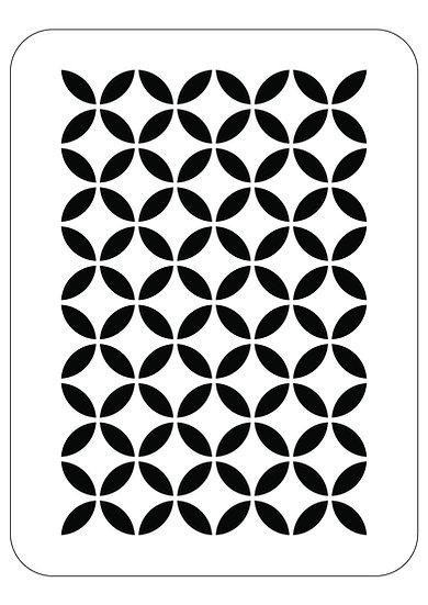 Sablon 3D Circle Pattern 50x70 cm  (6040)