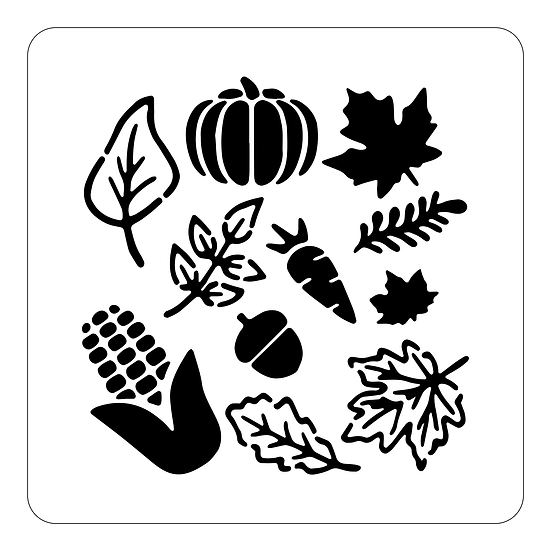 Sablon Autumn Leaves A4 (1316)