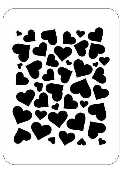 Sablon decorativ Heart Pattern A4 (1296)