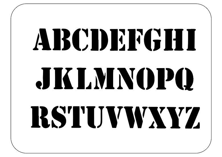 Sablon  Alphabet  A4 (1160)