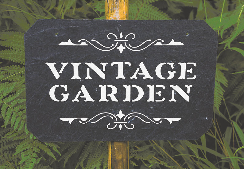 Vintage garden A4 (1102)