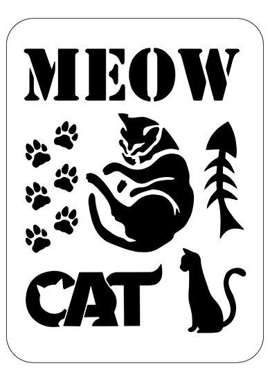 Sablon Meow Cat A4 (1127)