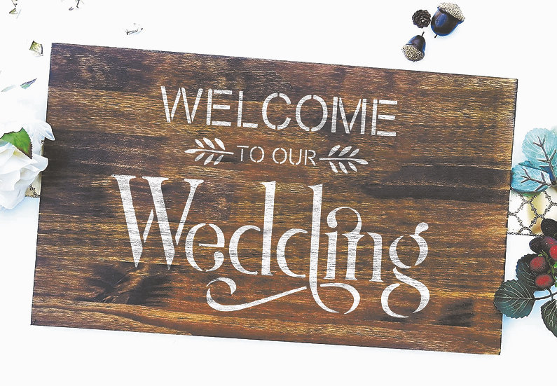 Welcome to our wedding A4 (1100)