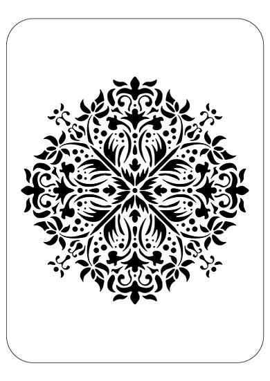 Sablon 3D Buds Mandala 50x50 cm  (6119)