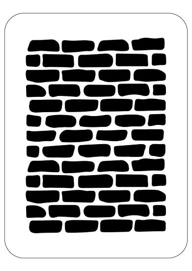 Sablon 3D Brick Wall 40x60cm  (6116)