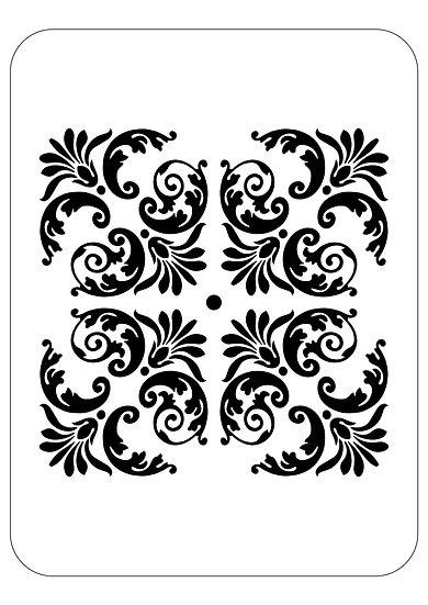Sablon 3D Flowery Square  30 x 30 cm  (6030)