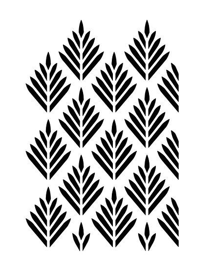 Sablon 3D Seamless point leaf 50x70 cm  (6068)