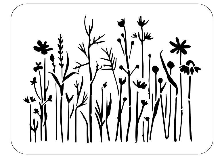 Sablon  Flower Row  A3  (4042)