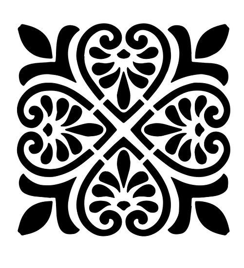 Sablon Drop Heart Tile 30x30 (1231)