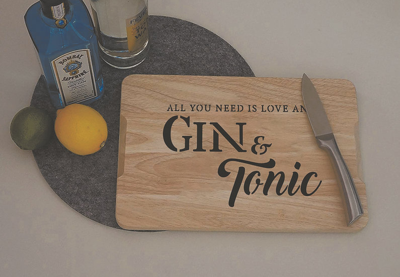 All you need...is gin & tonic A4 (1104)