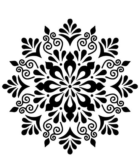 Sablon 3D Doric Mandala  50x50 cm (6042)