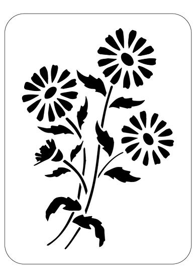 Sablon decorativ Daisies A4  (1277)