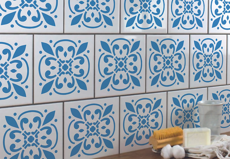 Sablon pereti Fleur Tile  30x30 cm  (4008)