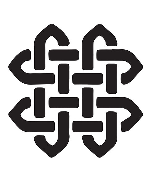 Sablon 3D Knot Pit 50x50cm  (6014)