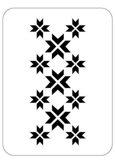 Sablon decorativ Corner Flower A4  (1276)
