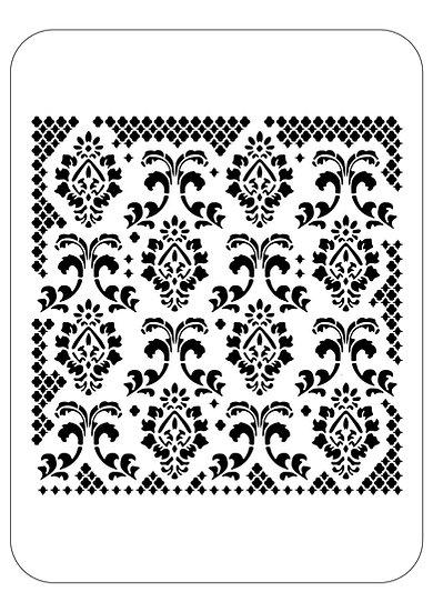 Sablon 3D Baroque Fence 50x50 cm (6056)